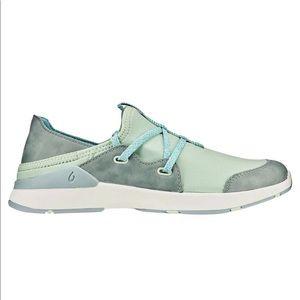 Olukai 7.5 Miki Li Slip On Shoes Pale Moss Dolphin